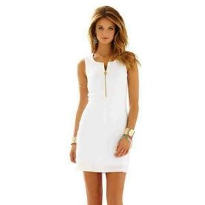 Lilly Pulitzer Lynd dress white bodycon waffle M